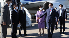 Moon arrives in New York for UN General Assembly