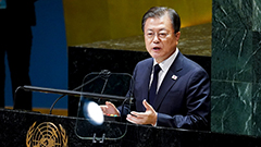 Moon proposes that parties involved in Korean Peninsula affairs declare end to Korean War