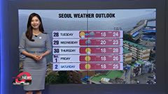 Breezier and cloudier day across Korea