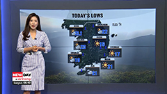 Breezy in northern and central areas, warm and sunny in south