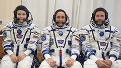 World News: Russian actor arrives at space station for world first: a movie in space