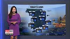 Rainy in central areas, warm and sunny in south