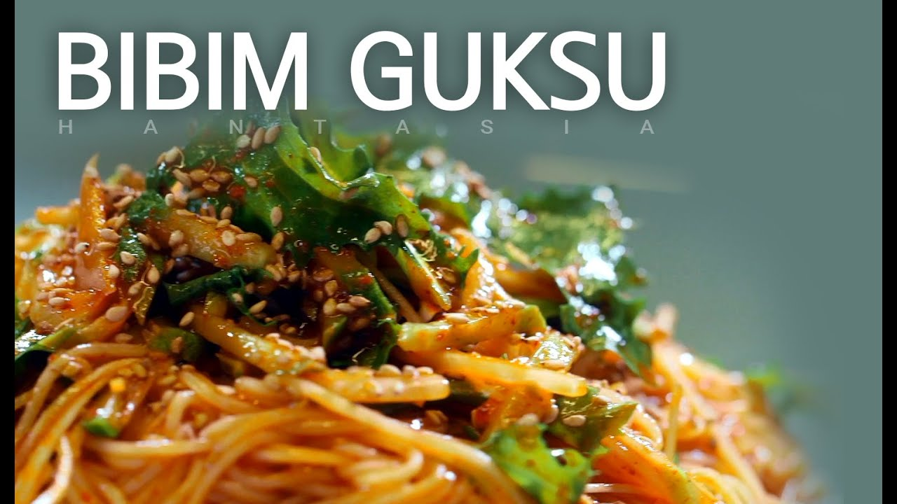 When spring comes...Have yourself a bowl of spicy cold noodle dish! BIBIM GUKSU