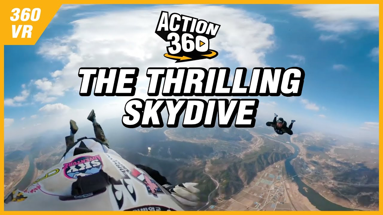 [Action 360] The Thrilling Skydive Through the Blue Sky