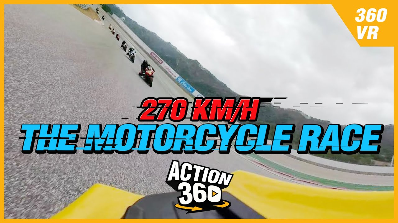 [Action 360] The motorcycle race which speeds the circuit at 270 km/h 🏍