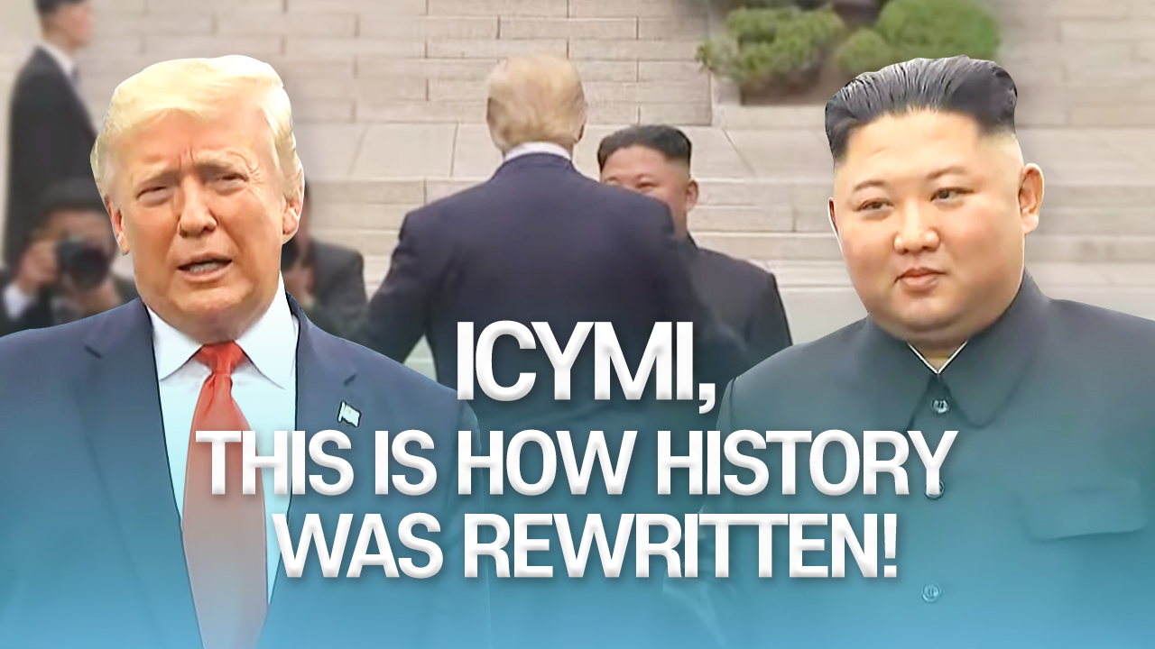 ICYMI, this is how history was rewritten!