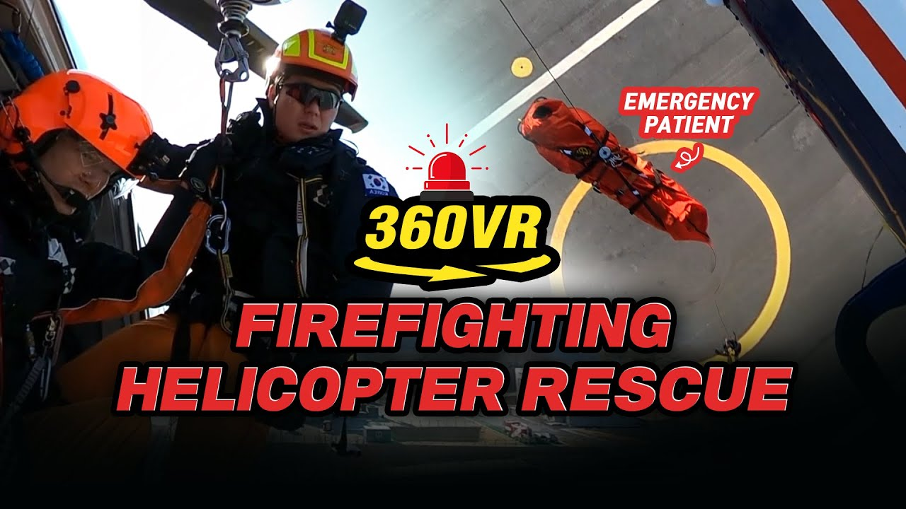 360° View l Firefighting Helicopter Rescue Training